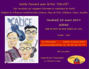 Soirée concert avec le trio Calice @ Saint-Sulpice | Pays de la Loire | France