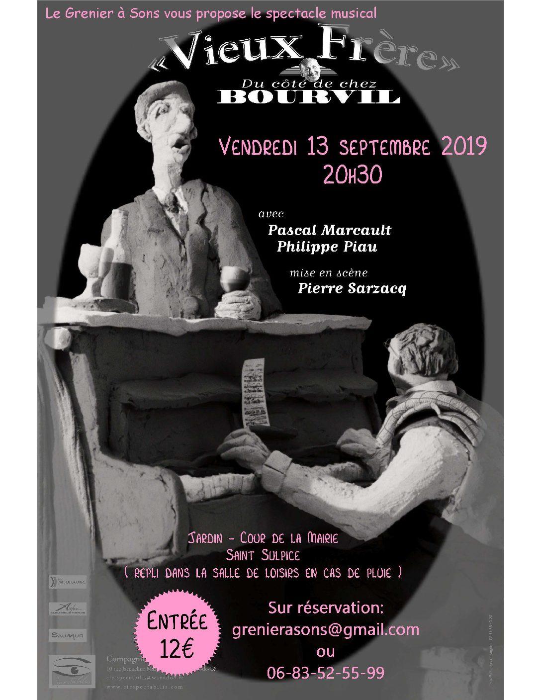 Ven 13/09 spectacle musical «Vieux frères» Cie Spectabilis