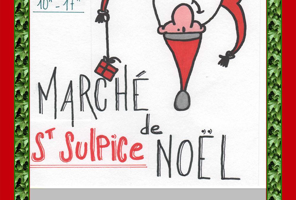Marché de Noël Dimanche 15 décembre de 10h à 17h à St Sulpice