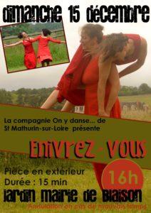 """Danse contemporaine """"Enivrez-vous"""" - Cie On y danse @ Jardins de la mairie de Blaison   Blaison-Saint-Sulpice   Pays de la Loire   France"""