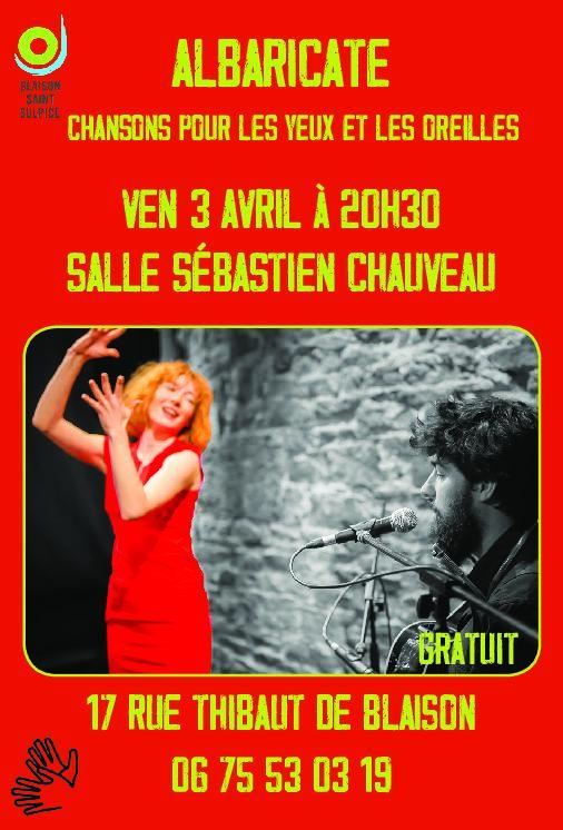 Concert ALBARICATE ANNULÉ