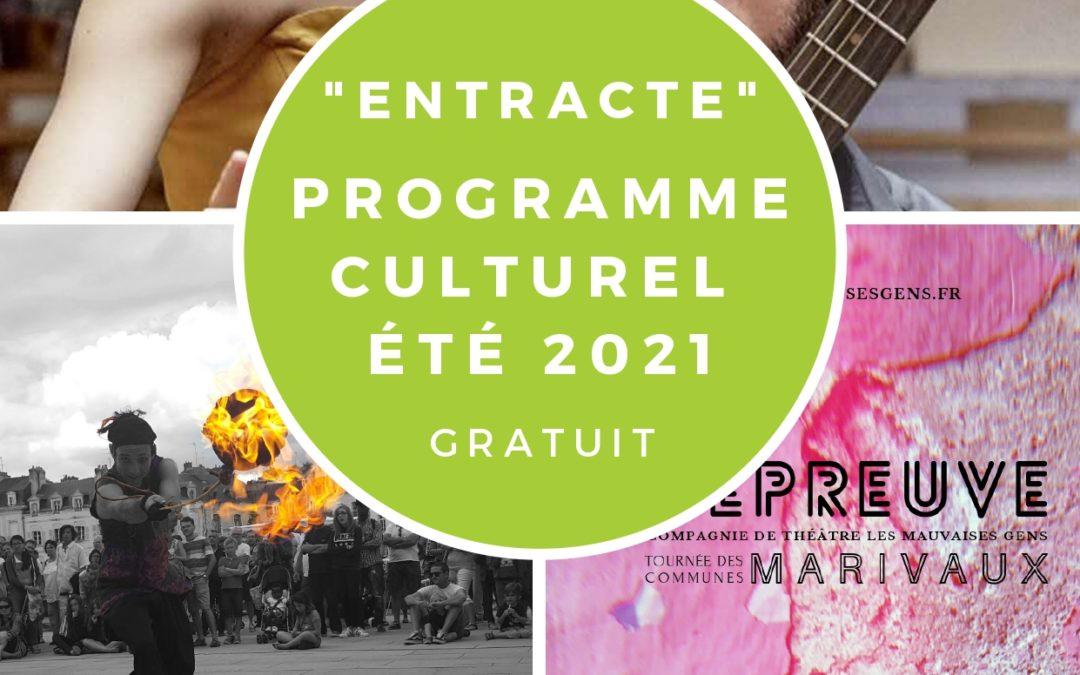A vos agendas ! Programme culturel estival «Entracte»